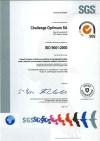 Certification ISO 9001 de Challenge Optimum S.A.